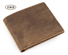 J.M.D Simple Design 100% Genuine Leather Pocket Wallet Card Holder Portable Purse Fashion Male Window 8015-3R