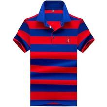 High quality brand men polo shirt new summer casual striped cotton men's solid polo shirt polo ralp men camisa polo homme