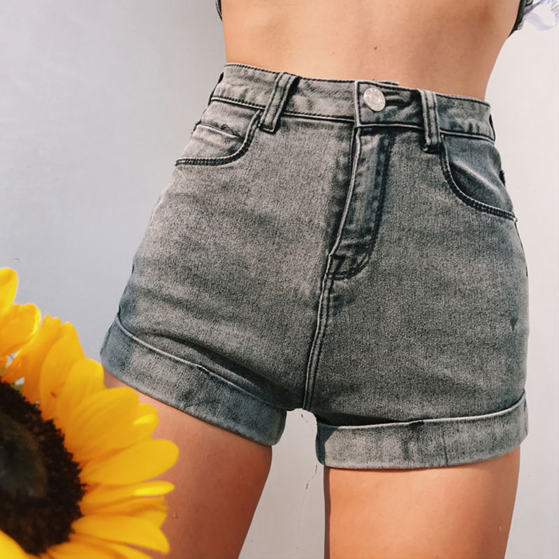Sexy High Waist Women   shorts   Blue Black denim   shorts   feminino 2017 Skinny Jeans   Short   Summer Streetwear Party fitness   shorts