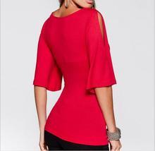 deep V patchwork vintage elastic fabric off shoulder shirts