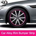 8 meters Car Alloy Wheel Rim Bumper Strip for Nissan Qashqai Titan Armada Sentra Maxima Leaf Versa Pulsar Murano Juke