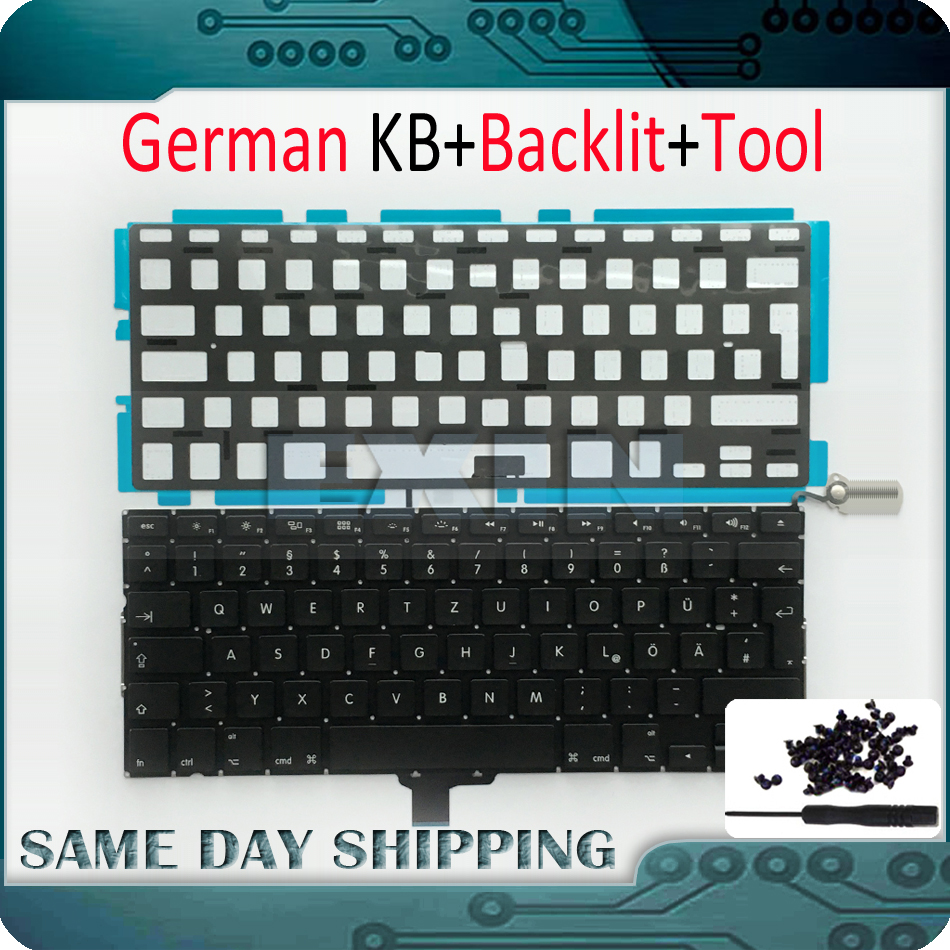 OEM NEW Laptop A1278 German Keyboard for Macbook Pro 13