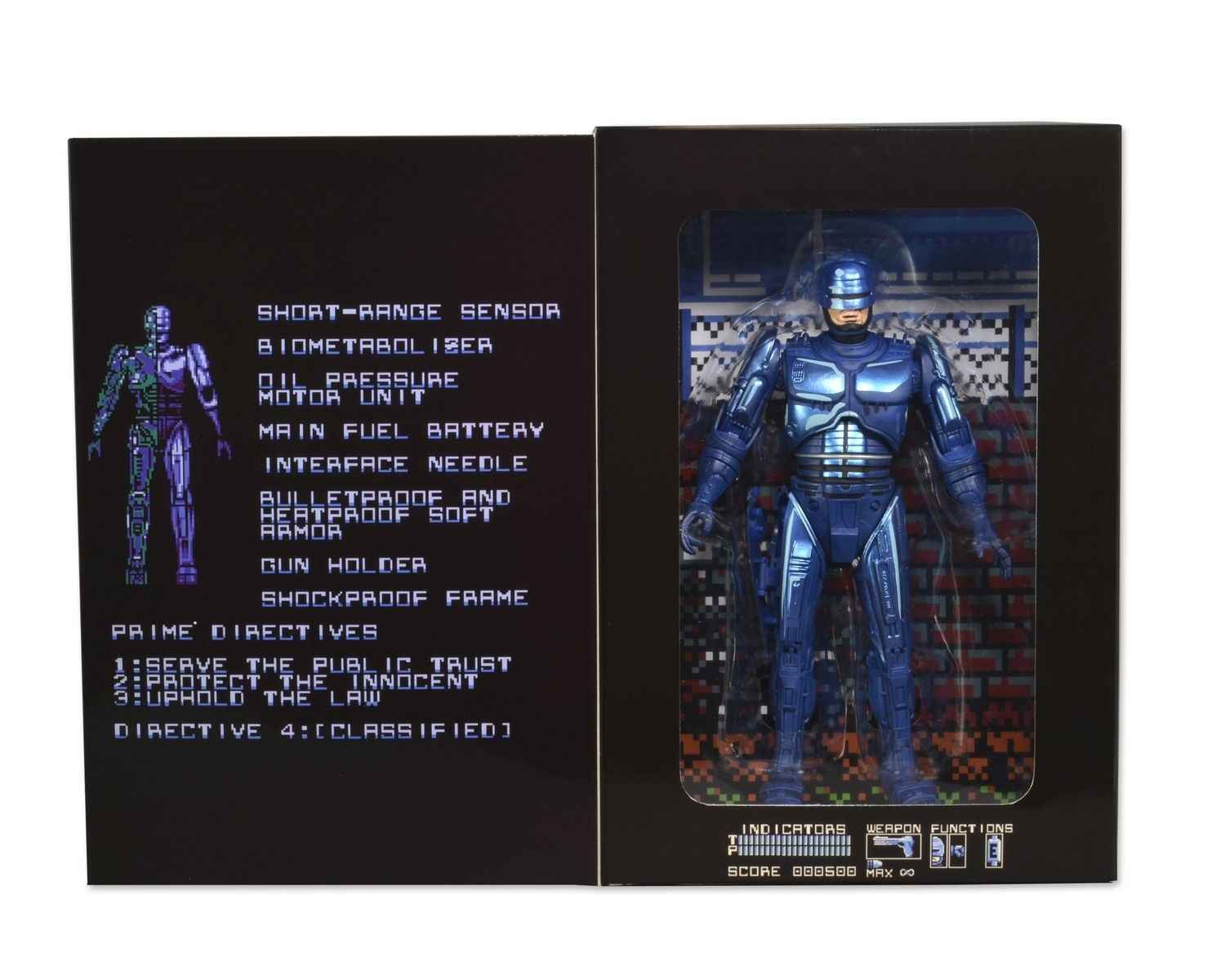 "NECA Robocop Clássico 1987 Video Game Aparência PVC Action Figure Collectible Modelo Toy 7 ""18 cm KT3129"