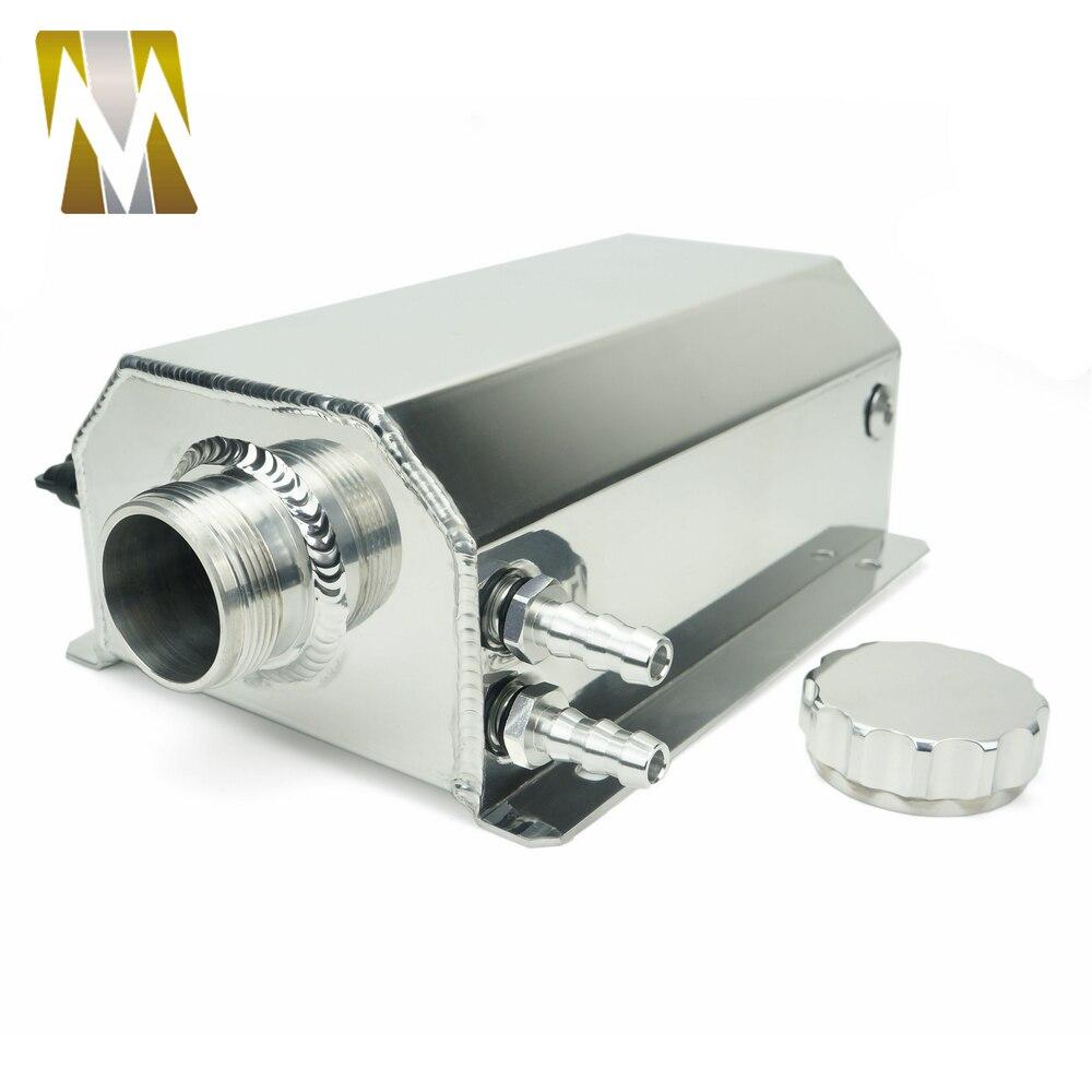 Autoleader 2L bouchon Aluminium réservoir collecteur d'eau liquide de refroidissement radiateur trop plein coffre bidon réservoir Kit de récupération liquide de refroidissement réservoir d'eau - 2