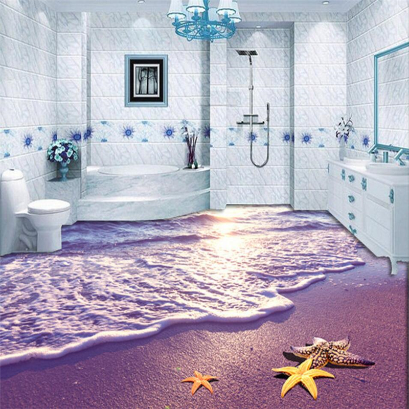 beibehang floor painting photo wallpaper non-slip waterproof thickened self adhesive Mural wall papers home decor contact-paper beibehang custom floor stickers hotel bathroom 3d wall papers home decor self adhesive pvc non slip mural wallpaper roll
