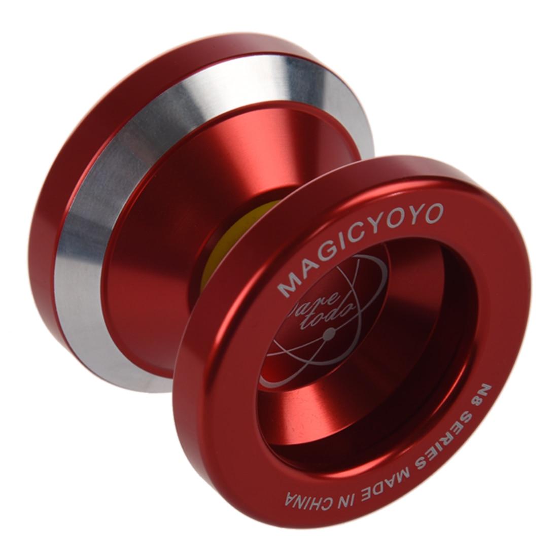 Magic Yo-Yo N8 Super professionnel YoYo + ficelle + sac gratuit + gant gratuit (rouge)