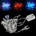 6W 10M 100LED LED Christmas Wedding  Party Decoration Lights Lighting AC 220V Fairy String Light Free shipping