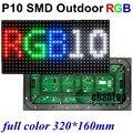 P10 открытый SMD полноцветный светодиодный модуль дисплея панели 320*160 мм 32*16 пикселей 1/4 сканирования hub75port водонепроницаемый SMD 3in1 RGB светодиодные табло