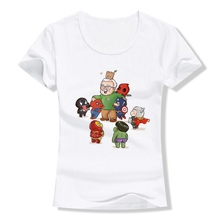 Stan Lee Marvel Avengers Thor Summer Plus Size Loose O-NECK Modal Short Sleeve Womens Clothing Fashion Casual T A193291
