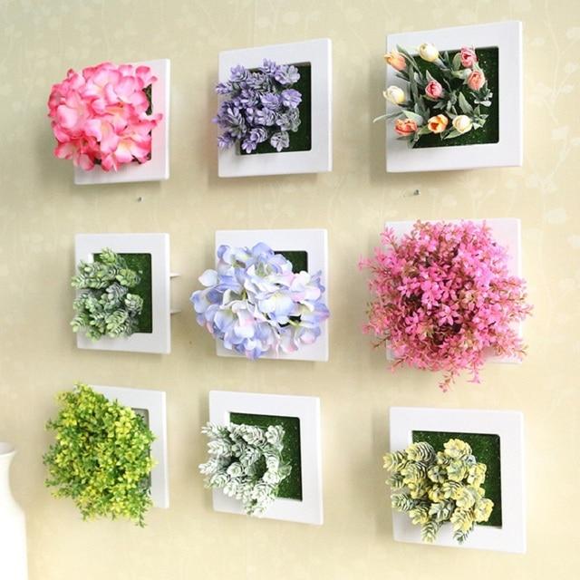 Decoración de la boda 3D flores artificiales estéreo plantas ...