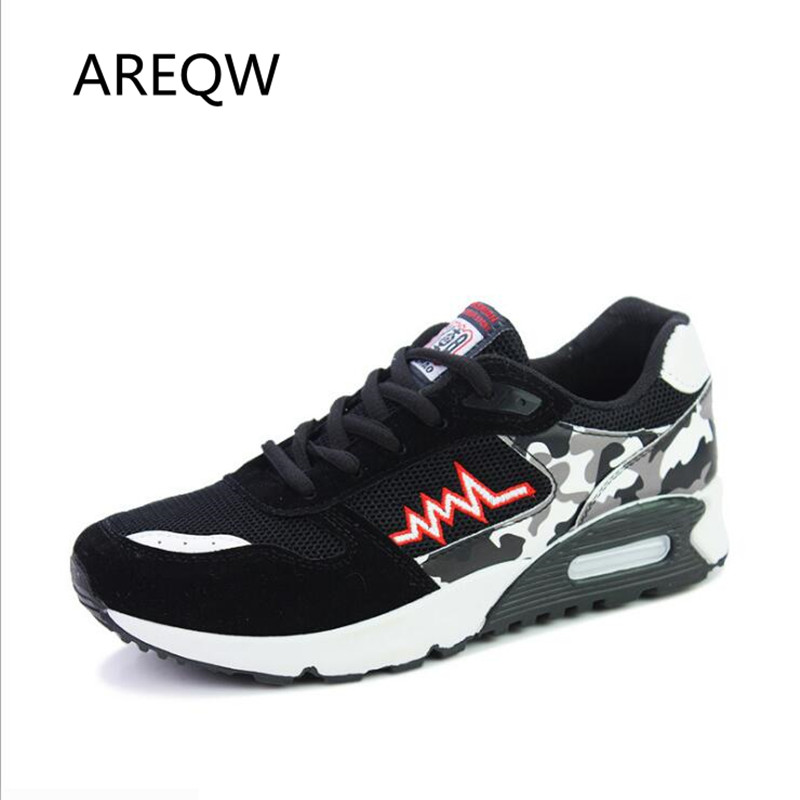 2017 Fashion Men Casual Shoes Sport Air Mesh Breathable Trainers Basket Zapatillas Male Walking Flat Printed