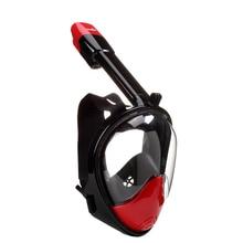 Šnorchlování plné suché dýchací trubice plavání obličejové zrcadlo antifogging dospělých objektivu vybavení plné tváře potápěčské masky