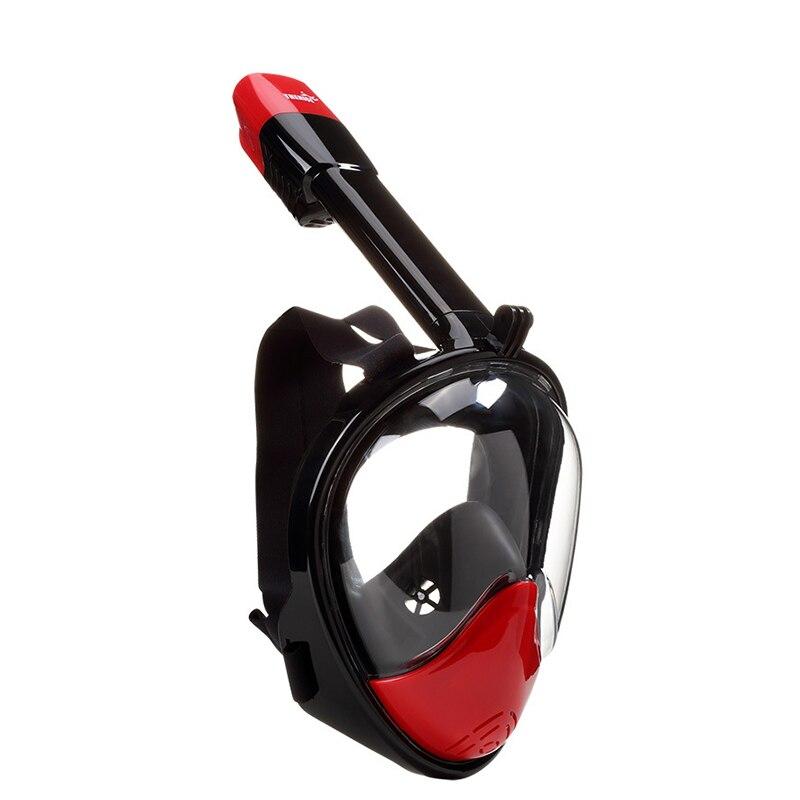 Snorkeling plein tube de respiration sec de natation visage miroir anti-buée adulte matériel objectif plein visage masque de plongée