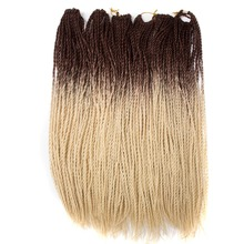 hot deal buy  qp hair pre twist crochet synthetic hair extensions 7 packs ombre kanekalon crochet braids senegalese twist hair 24