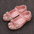 2017 outono cristal bow princesa shoes para meninas com tira no tornozelo da menina da criança da princesa shoes crianças ballet shoes para o casamento