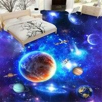 Star Galaxy Universe 3D Living Room Walkway 3D Three Dimensional Painting 3d Waterproof Self Adhesive Wallpaper