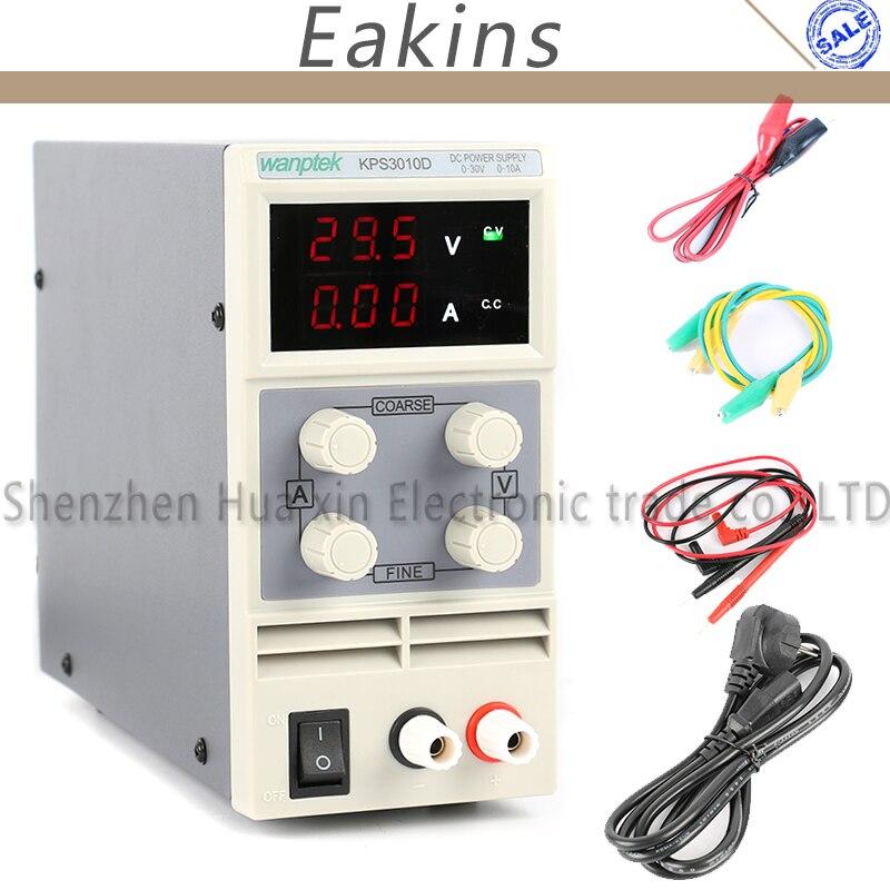 KPS3010D мини светодио дный цифровой регулировкой Питание, 0 ~ 30 В 0 ~ 10A, 110 В-220 В, переключение Питание 0,1 В/0.01A
