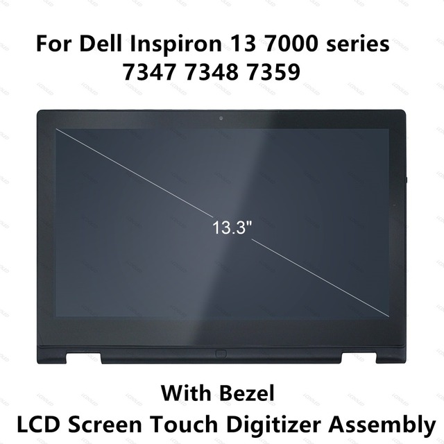 For Dell Inspiron 13 7000 series 7347 7348 7359 P57G 11118178082 LCD Display Touch Screen Glass Panel Digitizer Assembly+Frame