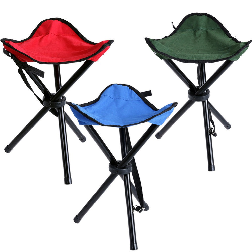 Mini Portable Outdoor Tri Folding Chair Stool Camping Fishing Picnic Small Seat 30x30x40hcm 3 Colors feistel denmark queue mini portable folding stool small seat subway fishing chair mini fashion danish standing chair