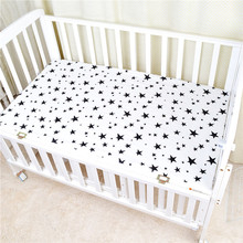 Baby Bed Sheet Cotton Cartoon Printing Baby Mattress Cover Newborn Bedspread Kids Crib Soft Breathable Flat Sheets Baby Bedding