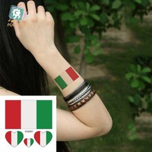 Body Art Waterproof Temporary Tattoos For Women And Men Italy Flag Design Flash Tattoo Sticker CC6007