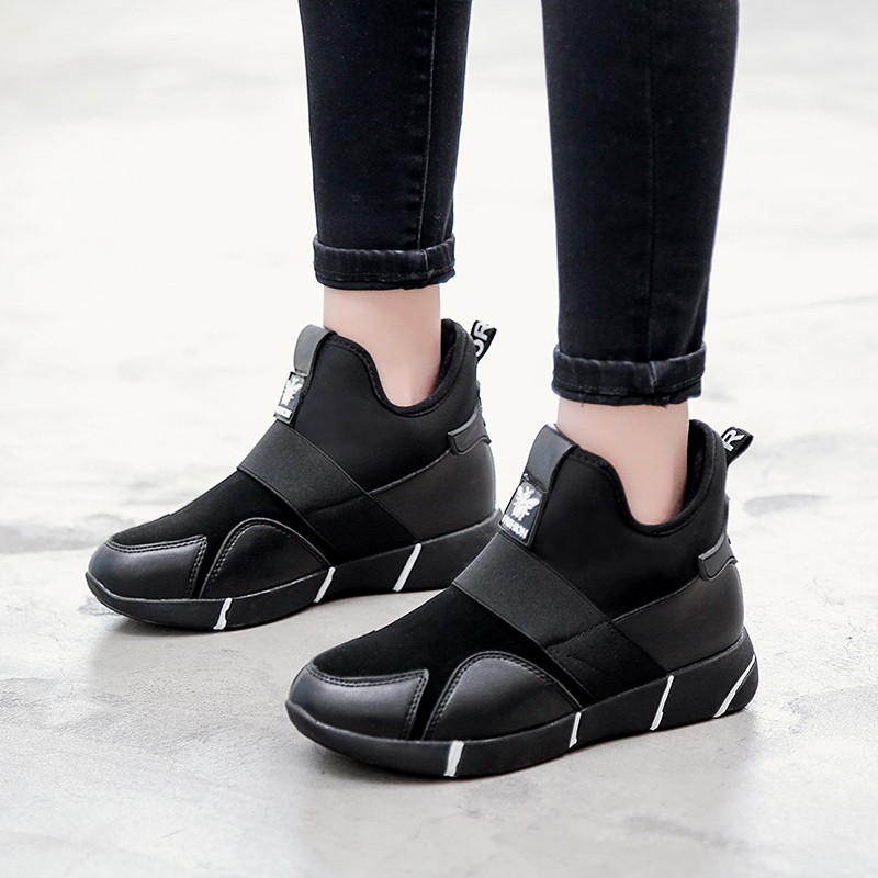 GOODRSSON Winter Women Flat Non-Slip Breathable Sneakers Casual High-Top 2019 Spring And Autumn Popular Outdoor Solid Shoe 2019