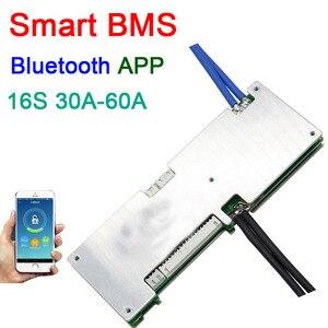 Image 1 - 16S 50A 40A 30A Li ion BMS protection board smart bms Balance Bluetooth app UART bms software (APP) monitor Lipo lithium