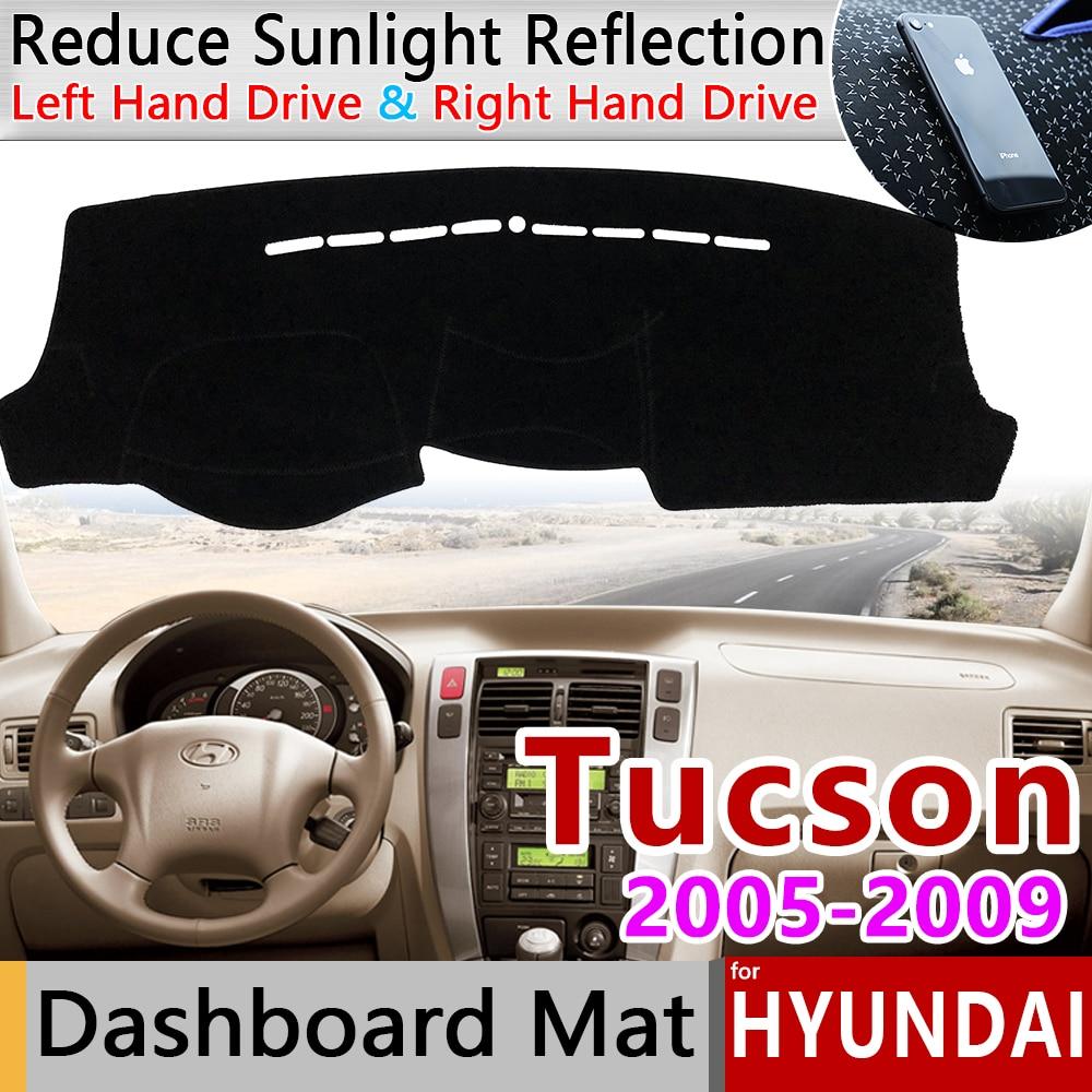 For Hyundai Tucson 2005 2006 2007 2008 2009 JM Anti-Slip Mat Dashboard Cover Pad Sunshade Dashmat Protect Carpet Car Accessories