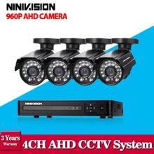Full HD 1080 P ВИДЕОНАБЛЮДЕНИЯ системы безопасности 4CH 1080 P AHD-NH DVR комплект 4*1.3 Мп 960 P Открытый видеонаблюдения комплект камеры безопасности WI-FI DVR