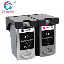 ColoInk 2Pack PG40 CL41 Ink Cartridge For For Canon PIXMA iP1800 iP1200 iP1900 iP1600 MX300 MP160