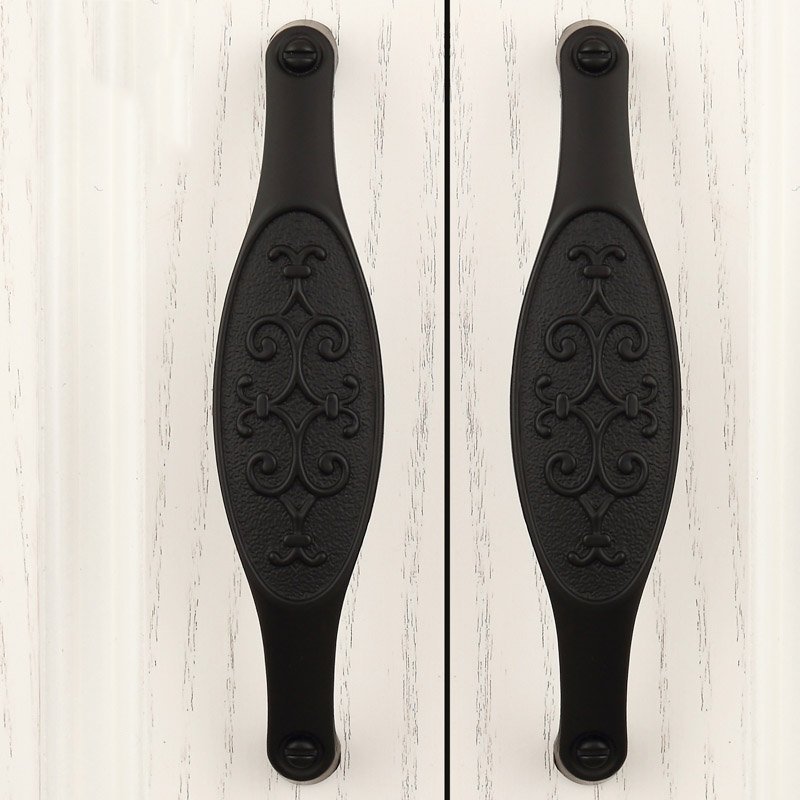 10PCS Black Zinc Alloy Door Handles European Antique Furniture Handle Drawer Cupboard Pulls Kitchen Cabinet Handles and Knobs 2017 new women shoulder bags solid pu leather handbags ladies brand designer bucket handbag purse bolsas feminina casual totes