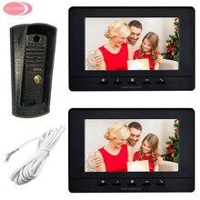 "Cheaper Video Door Intercom System Doorbell Security Camera Night Vision Metal Waterproof Intercom 7"" Video Intercom Doorphone Monitor"