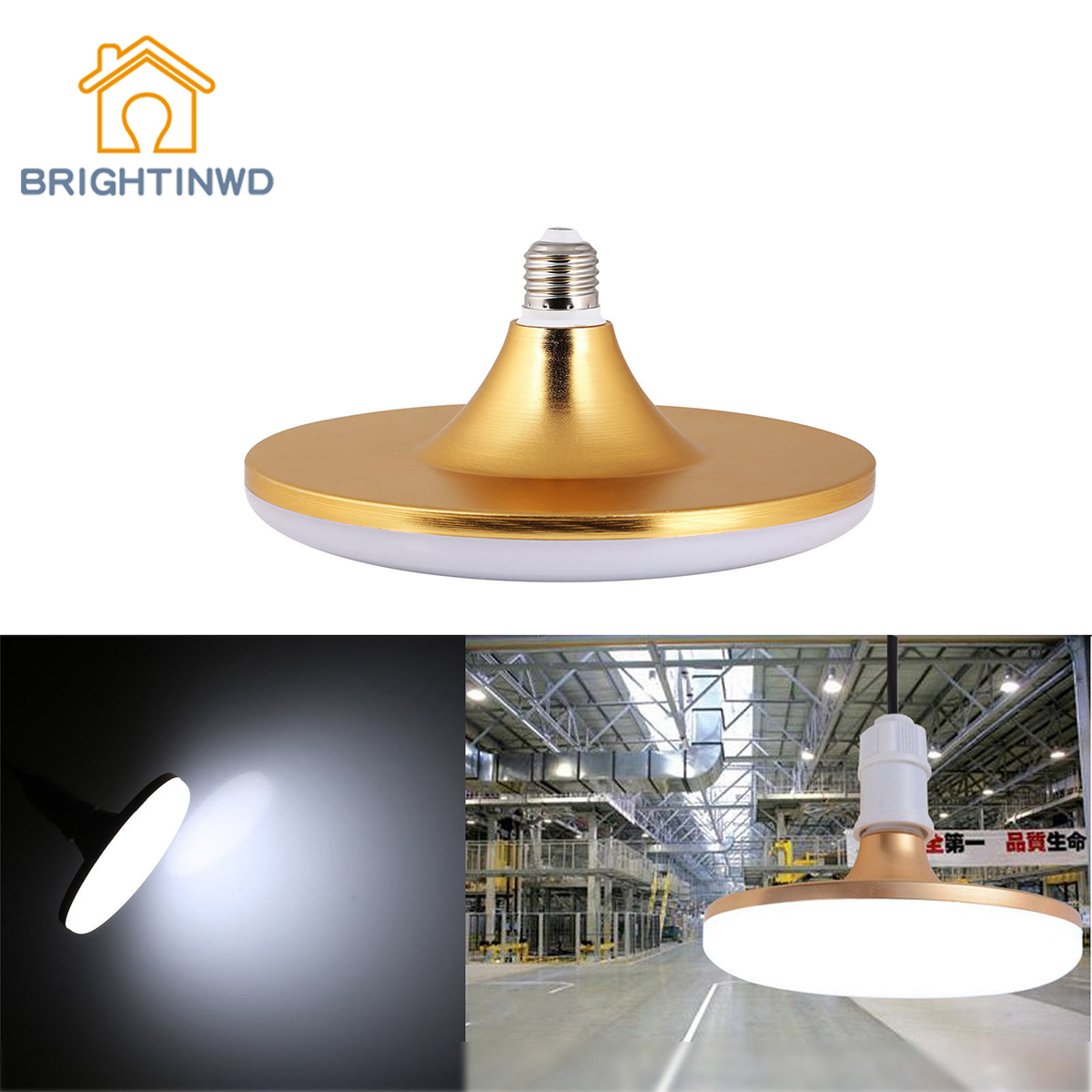 BRIGHTINWD LED Spot Light UFO Globe Round Bulb E27 12W 15W 20W 60W Bright Lamp 220V