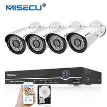 Misecu 8CH 1080 P POE 48 В NVR POE 4 шт. 48 В POE 1080 P Full HD HDMI из металла оповещение по электронной почте ИК ночного системы видеонаблюдения водонепроницаемый xmeye