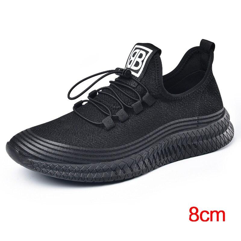 Фирменная Новинка Лето Для Мужчин's увеличивающий рост с внутренним каблуком и толстой стелькой спортивная обувь, кроссовки с лифтом повышенные стельки общая получить выше 6 см/8 см - 2