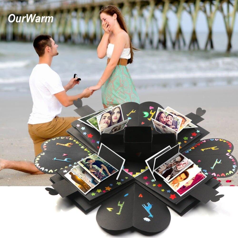 OurWarm DIY взрыв коробка подарок ко Дню Святого Валентина романтический фотоальбом любовь взрыв коробка для дня рождения Suprise ПОДАРОК