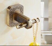 Античная робы дверь уолл-ванной утилита шкаф двойной крюк вешалки дома кухня ванная украшения