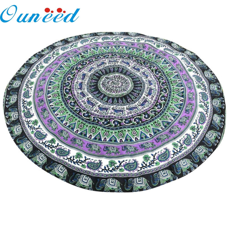 My House Round Beach Pool Home Shower Blanket Table Cloth Yoga Mat 2017 New Hot Sell 17Tue21
