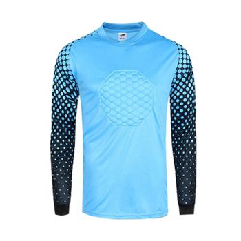 2019 koszulki piłkarskie bramkarskie koszulki piłkarskie z długim rękawem koszulki bramkarskie gąbka puste koszulki piłkarskie koszulki bramkarskie tanie i dobre opinie Soccer Sprężone Przeciwzmarszczkowy Oddychające Anty-pilling Anti-shrink Szybkie suche Windproof HAMEK JERSEY goalkeeper jerseys men
