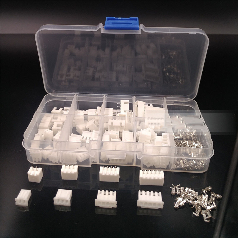 40 sets XH2.54 connector Kit in box 2p 3p 4p 5 pin 2.54mm Pitch Terminal