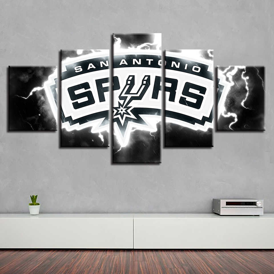 Fashion Prints Home Decor Wall Brand New Pop Spray 5 Set Basketball Sport Canvas Study Painting Art Modular Pictures Poster