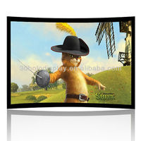84 Inch Curved Frame Projector Screen/Curved Frame Screen 84 inch 16:9/Curved Screen for Cinema/Large Curved Frame Cinema Screen