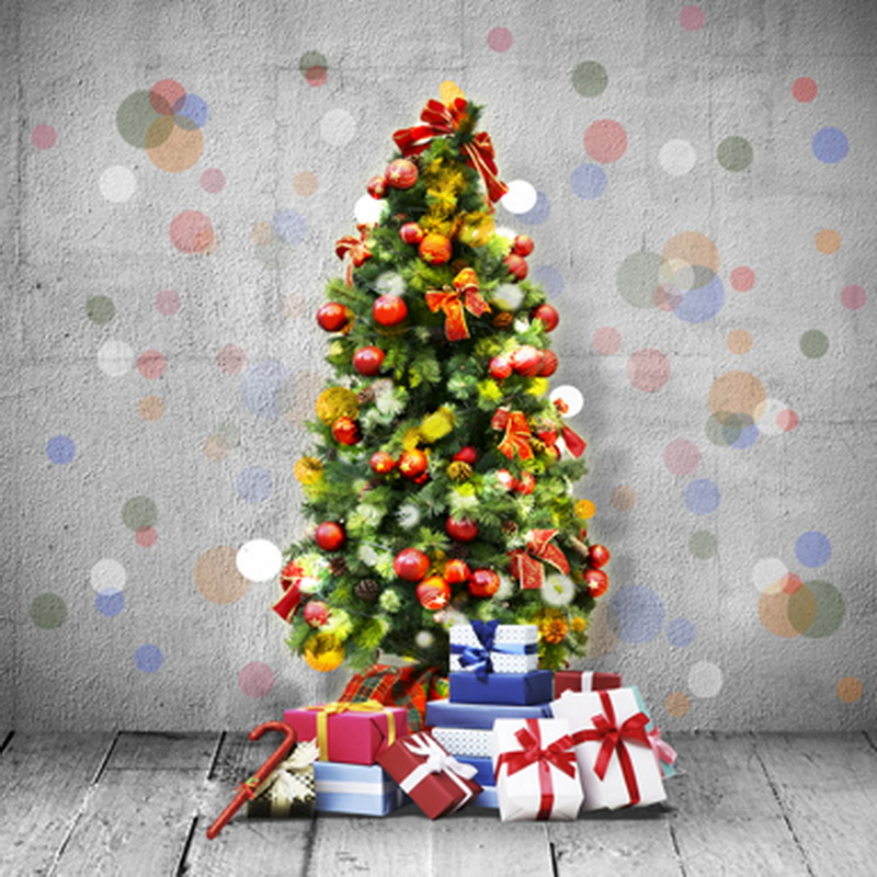 10ft Christmas tree photography backdrops vinyl cloth print photographic backgrounds for photo studio portrait taking ST-054 10ft photography backdrops vinyl cloth print study room photo studio backgrounds for photographic props cm 4817