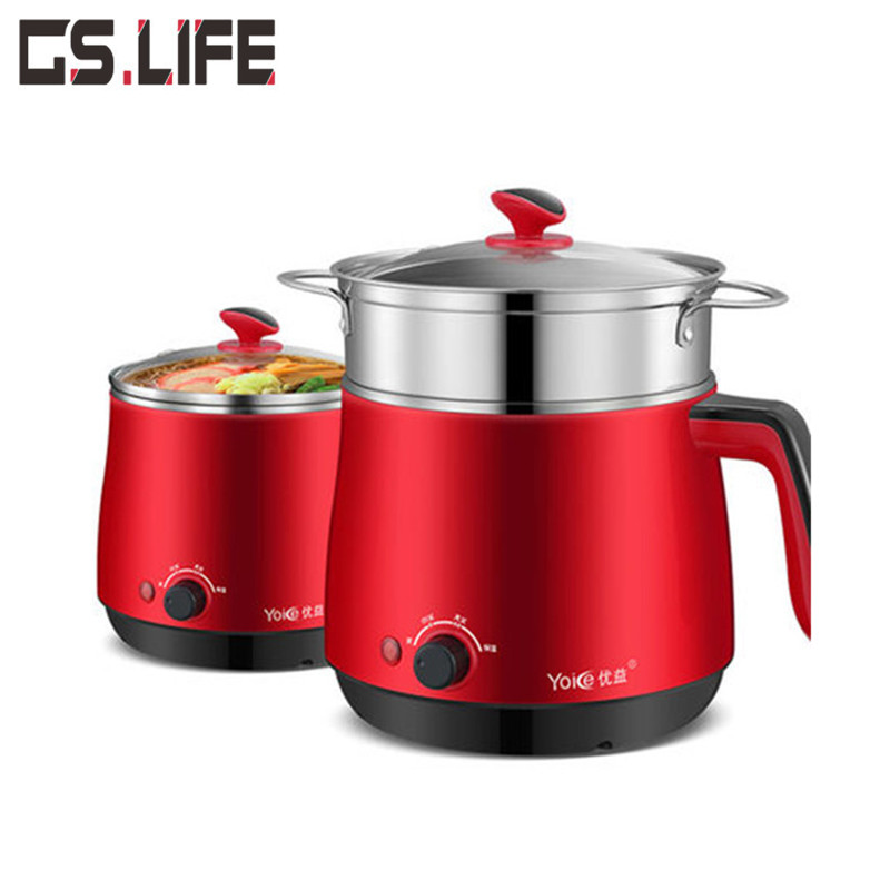 Multi Household Cookers 220V 1.5L Student Dormitory Cooking Noodle Pot Small 600w Electric Skillet 1-2 Person