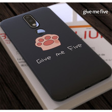 Black Ultra Thin Cover Soft Phone Cases Matte Silicone Case for Nokia X6 X5 X 6 5 cat claw pattern
