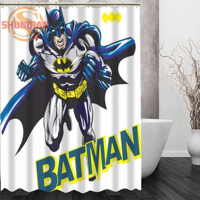 Online Shop art cartoon Batman Shower Curtain Eco-friendly Modern ...