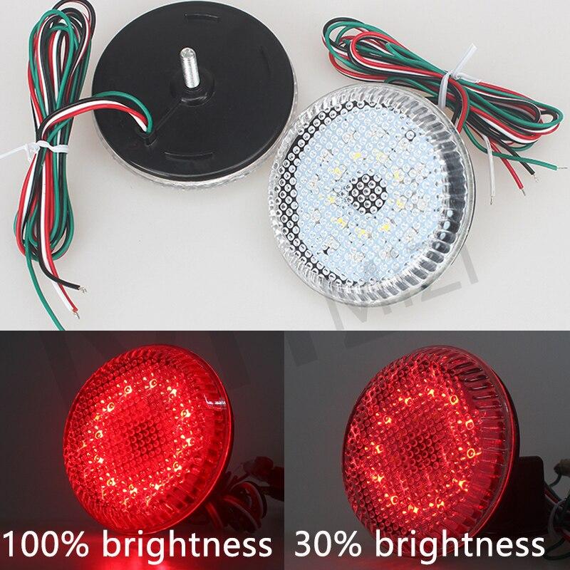 4 Colors Neweat 2pcs Clear Lens LED Rear Bumper Reflector Light Lamp Set For Scion xB iQ Toyota Sienna Corolla Nissan Qashqai