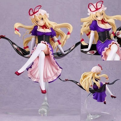 Free Shipping Sexy 9 Touhou Project Anime Yakumo Yukari Boxed 22cm PVC Action Figure Collection Doll Model Toy Gift free shipping 9 anime love live maki nishikino birthday project boxed 22cm pvc action figure collection model toy doll gift