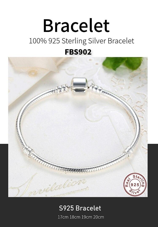 Роскошные 925 пробы Серебряные Оригинальные 3 стильные цепочки браслет для женщин подходит DIY Шарм бисера Аутентичные ювелирные изделия подарок