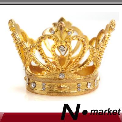 Bezmaksas piegāde Augstas klases sudraba imperatora kroņa salvešu gredzeni Priecīgu Ziemassvētku dimanta salvešu turētājam